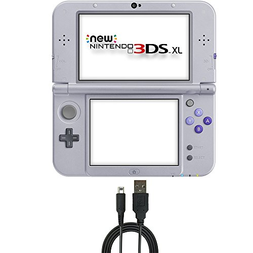 Nintendo 3DS XL Bundle: Nintendo New 3DS XL - Super NES Edition and USB Sync Charge USB Cable for New 2DS XL/ New 3DS/ New 3DS XL/ 2DS/ 3DS XL/ 3DS/ DSi XL/ DSi.