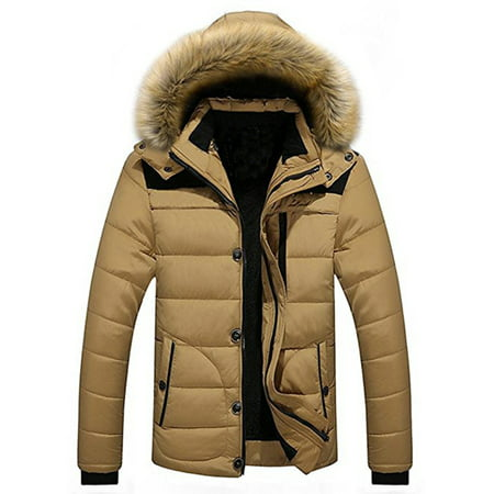 Men's Winter Hooded Warm Coat Winter Parka Jacket With Removable Hoodie (Winter Coat For Men On Sale)