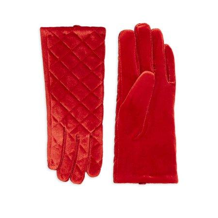 Quilted Velvet Gloves