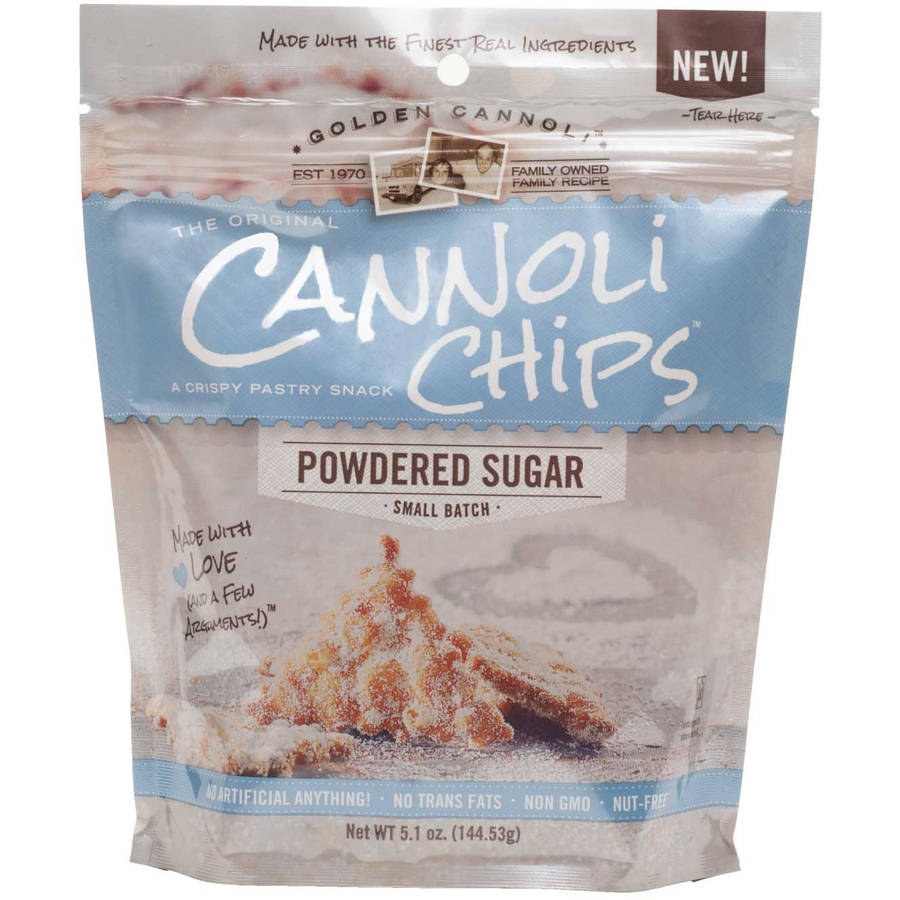 Cannoli Chips Powered Sugar, 5.1 oz