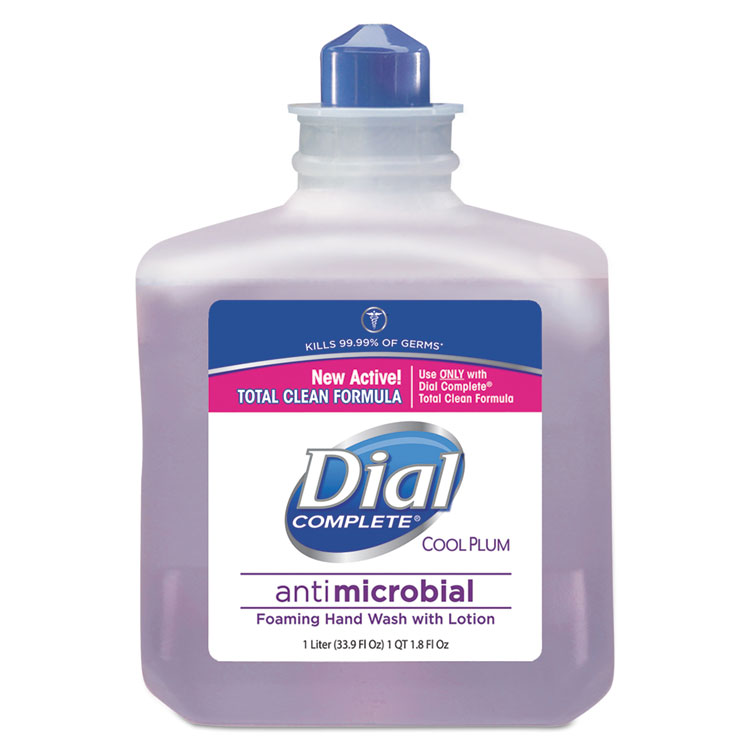 Dial.  Professional 81033 Foaming Hand Wash Refill, Cool Plum Scent - 1000 ml.  Bottle