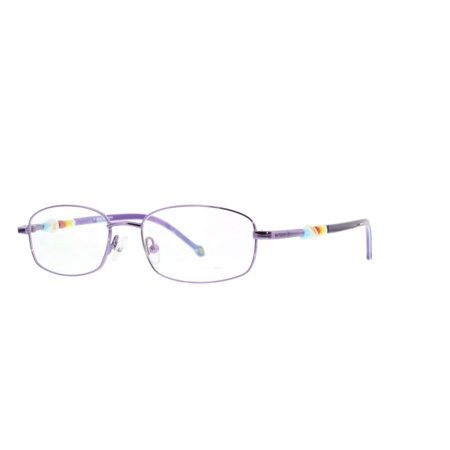 40a66ad6d5 Ebe Prescription Glasses Mens Womens Violet Multi Color Rectangular Full  Frame Beaded Anti Glare grade d5355 - Walmart.com