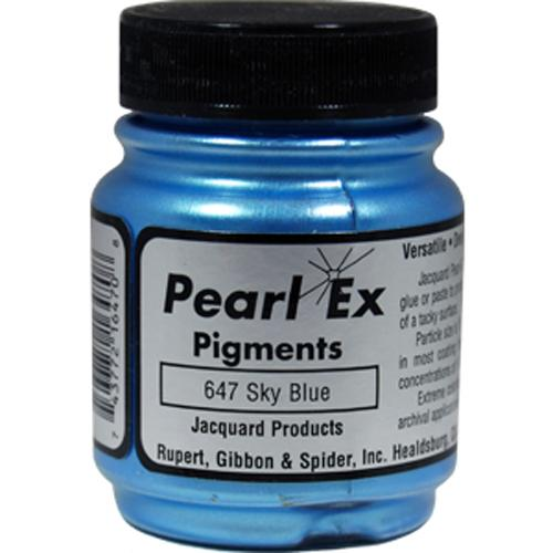 Jacquard Pearl Ex Color #647 SKY BLUE Powdered Pigment Archival Quality .75 oz