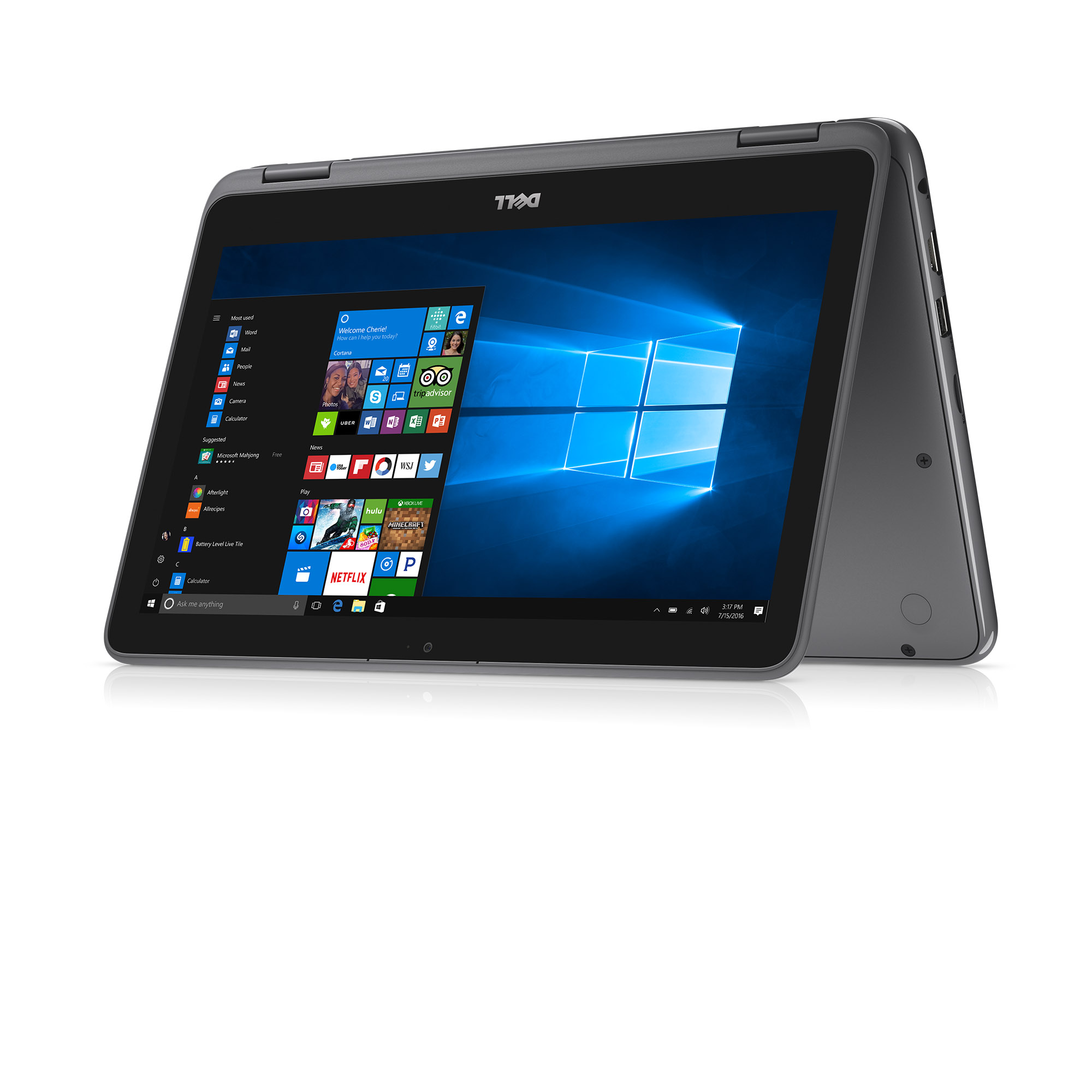 Dell - Inspiron 11 3000 2-in-1, 11.6-inch HD, Intel Pentium Processor N3710, 4GB 1600MHz DDR3L, 500GB 5400 RPM HDD, Intel HD Graphics
