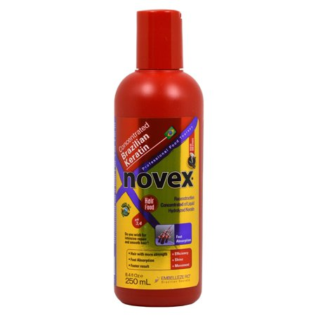 Novex  Brazilian Max Keratin 8.4 oz. Concentrated Reconstruction Hair (Brazilian Keratin Hair Treatment Qod Max 1000ml)