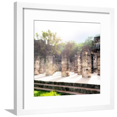 ¡Viva Mexico! Collection - One Thousand Mayan Columns V - Chichen Itza Framed Print Wall Art By Philippe Hugonnard Chichen Itza Mexico Framed