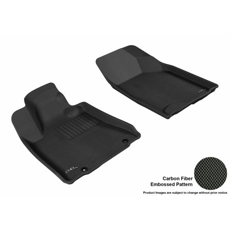3D Maxpider 2004 2009 Lexus Rx350 330 Front Row All Weather Floor Liners In Black With Carbon Fiber Look