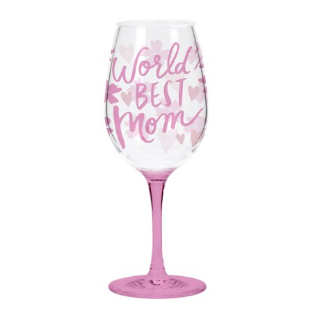 C.R. Gibson 16 Ounce, Acrylic, Wine Glass Singles, Perfect Gift, Hand Wash - World'S Best
