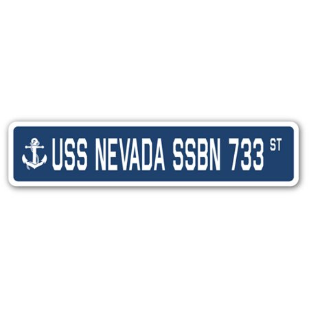 Nevada Gift (USS NEVADA SSBN 733 Street Sign us navy ship veteran sailor gift )