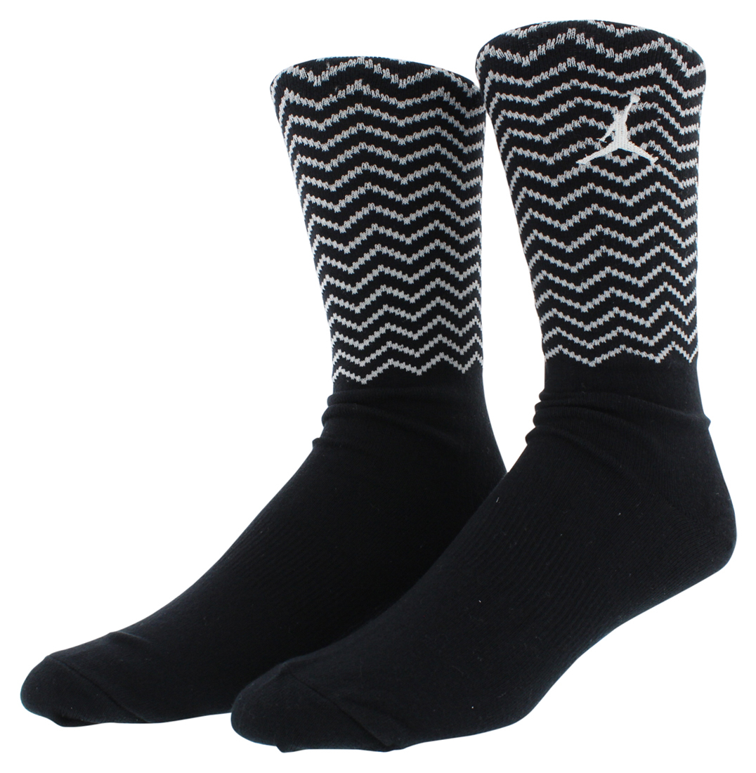Jordan Mens Retro 12 Crew Socks Black