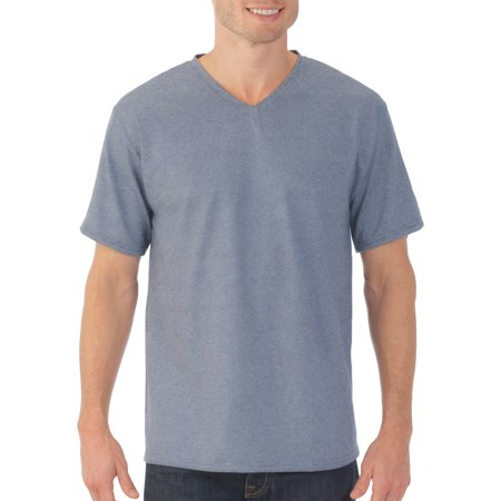 Fruit Of The Loom Platinum Eversoft Big Mens Short Sleeve V Neck T Shirt