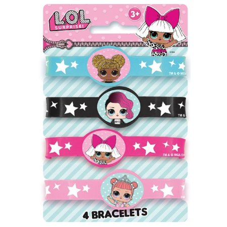 Party Favors - LOL Surprise - Stretch Bracelets - Rubber - 4ct