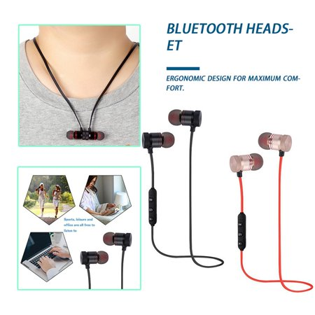 Easy-life Magnetic Wireless Sports Earphones Metal Earbuds Universal For Phone - image 3 of 6
