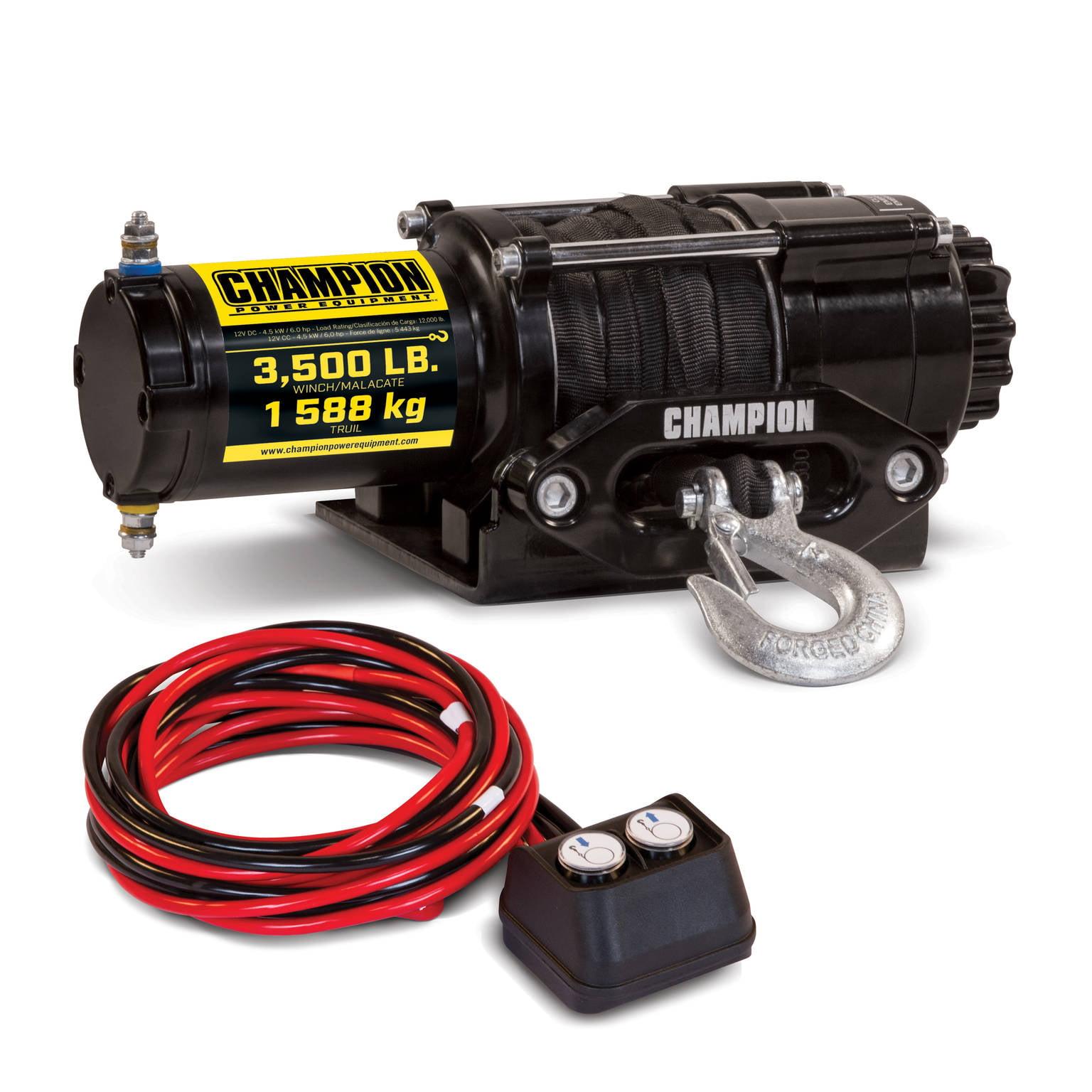 Champion 100428 3500-lb. ATV/UTV Synthetic Rope Winch Kit