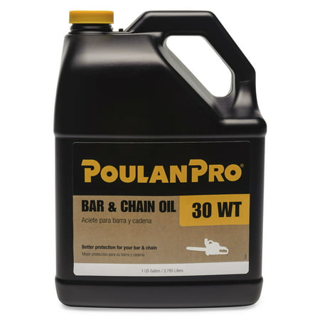 Poulan Pro Bar and Chain Saw Oil in 1-Gallon Bottle (3.78 - Chainsaw Accessories