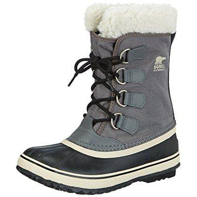 Sorel Womens Winter Carnival Boot Pewter Black 8 5 M Us