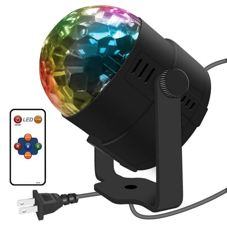 - Costech LED Ball Colorful Crystal Stage Light with Remote Control, Flexible 360 Degree Automatic Rotating Strobe Bulb Multi Color Lamp for Show, KTV, Party, Wedding, Club, Disco, Theater