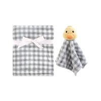 Hudson Baby Boy and Girl Plush Blanket and Security Blanket, Duck