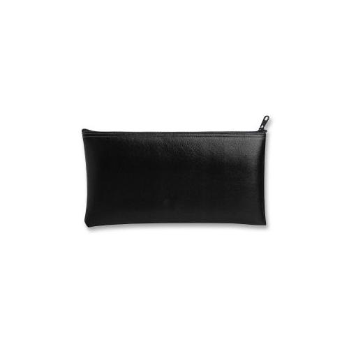 MMF INDUSTRIES Wallet Bags, With Zipper Top, Vinyl, 11x6, Black