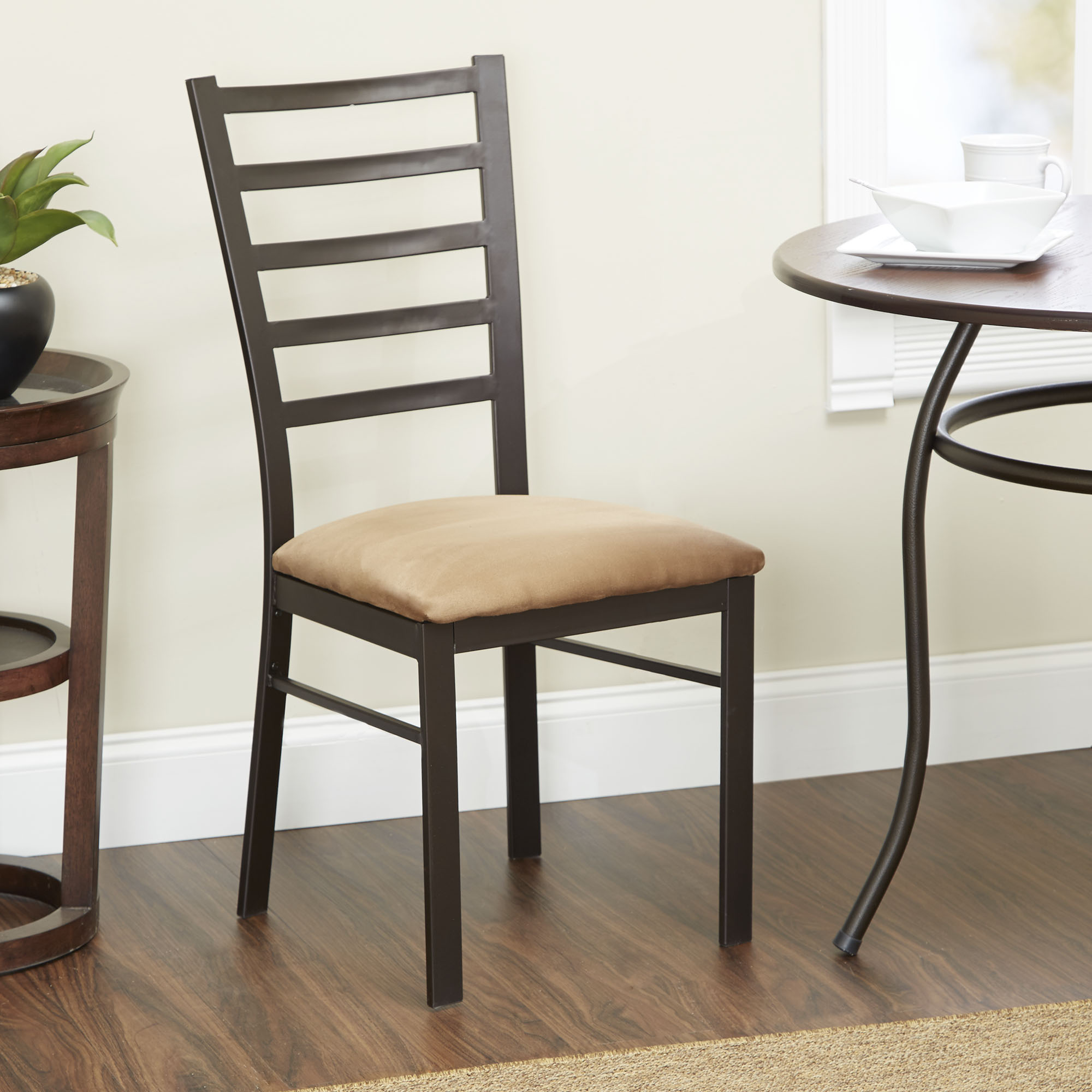 Mainstays Accent Chair, Oil-Rubbed Bronze Finish, Multiple Colors