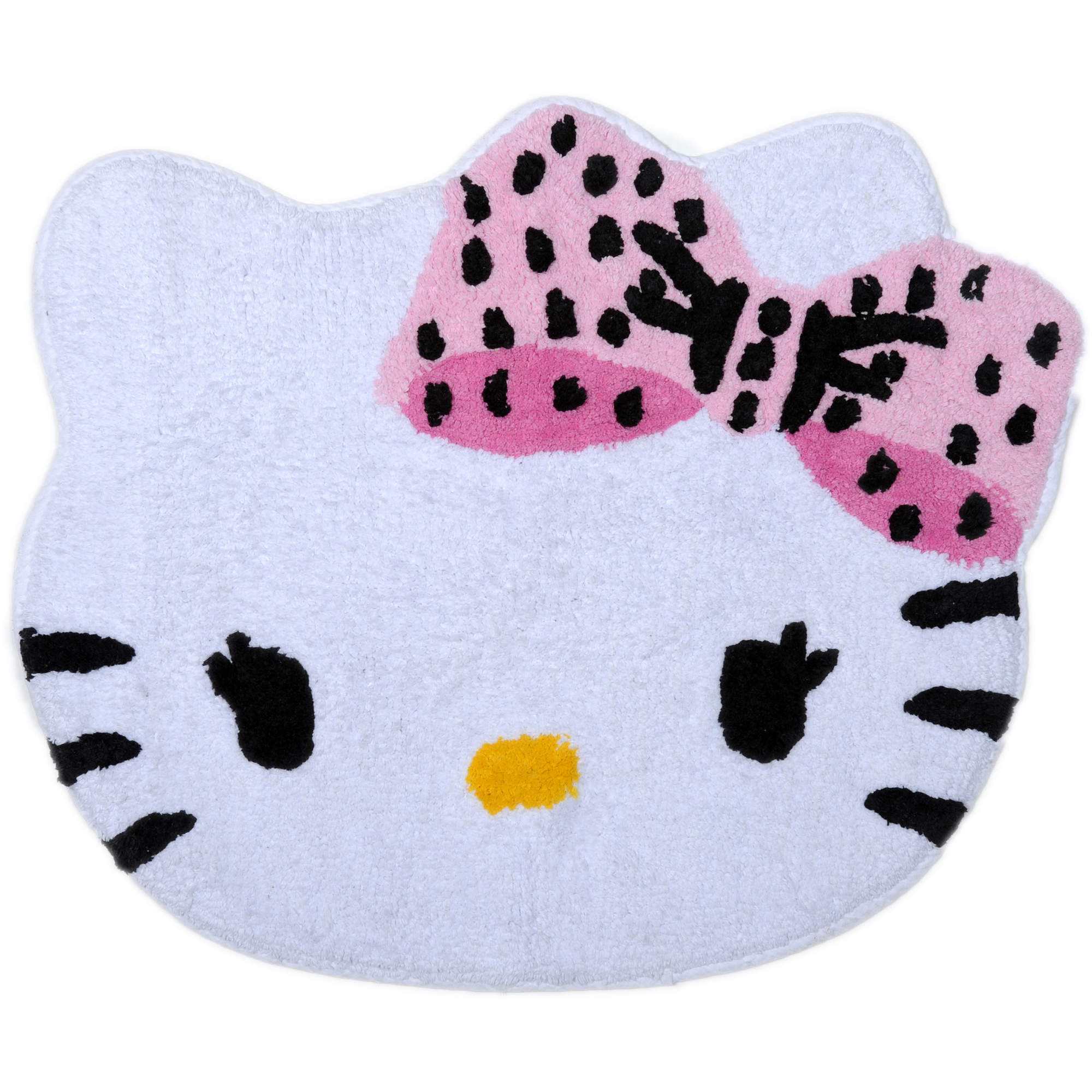 Hello kitty bathroom accessories - Hello Kitty Dots J Adore Tufted Bath Rug