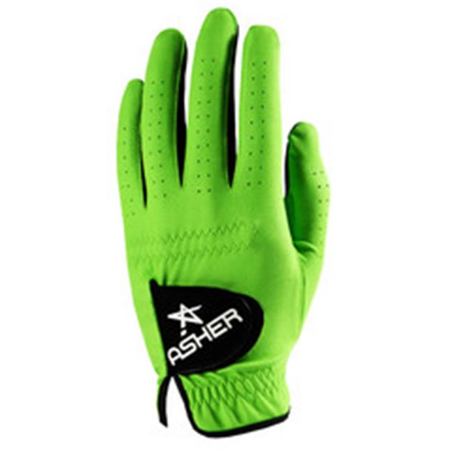 Asher Gloves CKG-LR-L New- Chuck - Electric Green Ladies Lefty Large - pack of 2- (Goes on RH)