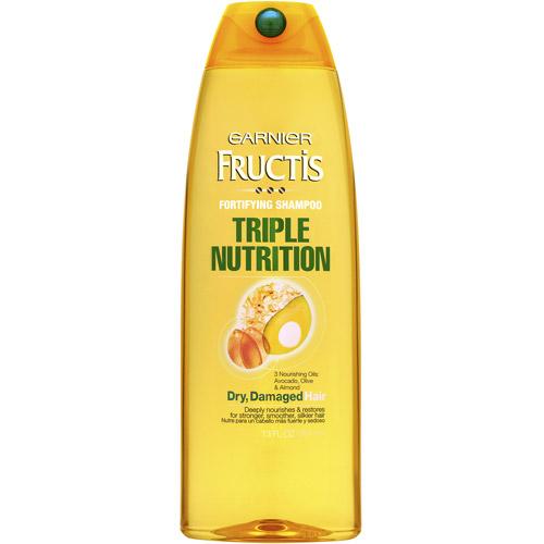 Garnier Fructis Triple Nutrition Shampoo, 13 Oz