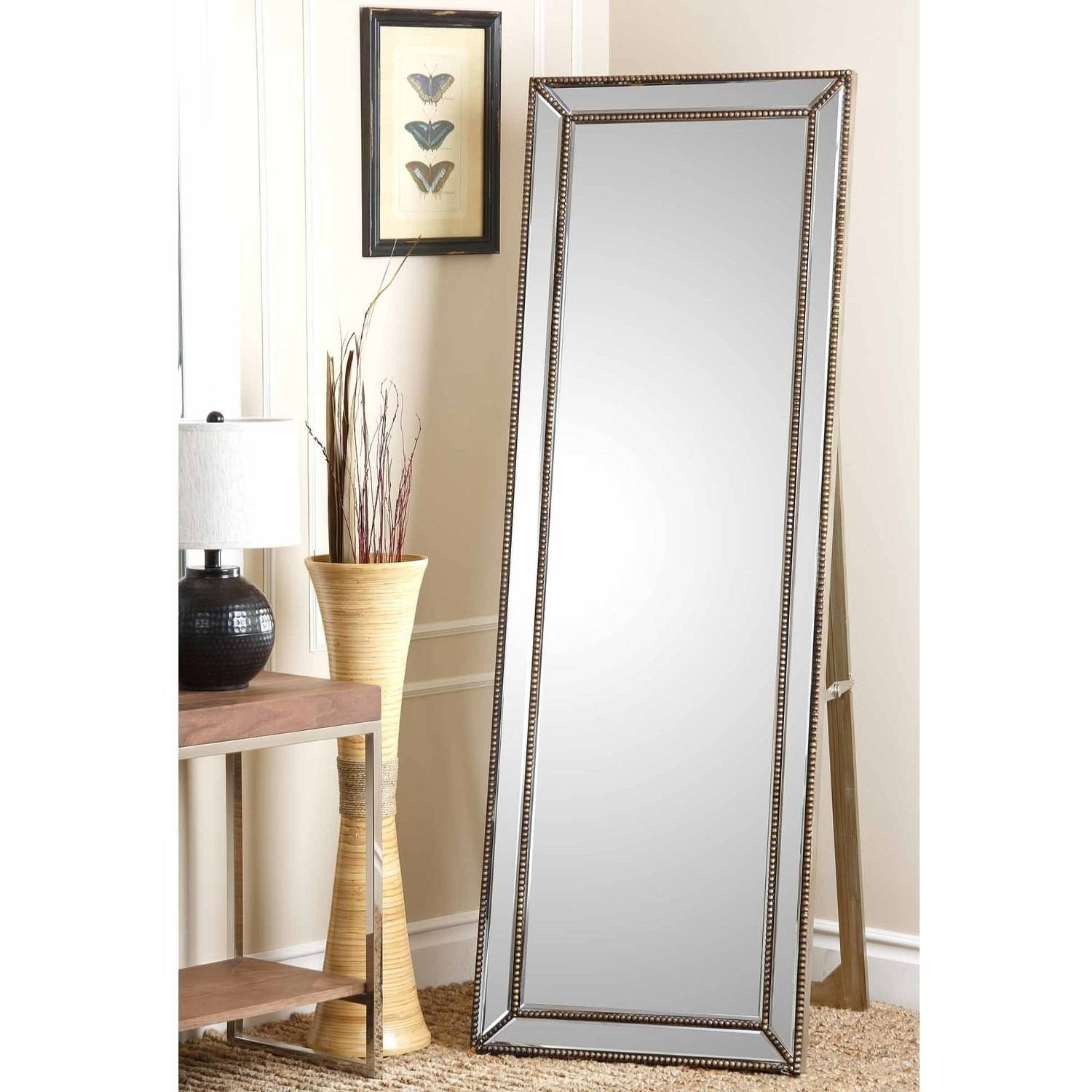 Devon and Claire Berkshire Nailhead-Trim Floor Mirror by Devon & Claire