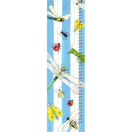 - Oopsy Daisy - Bugs and Stripes Growth Chart 12x42, Shelly Kennedy