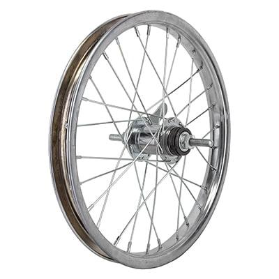 "Wheel Master 16"" Bicycle Rear Wheel Coaster Brake KT 3/8"" Axle Silver"