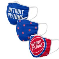 Detroit Pistons FOCO Face Covering (Size Small) 3-Pack