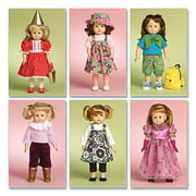 "McCall's Pattern Doll Clothes For 18"" Doll, 1 Size Only"