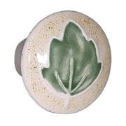 Acorn PRAYP Sm Rd Tan with Green Leaf