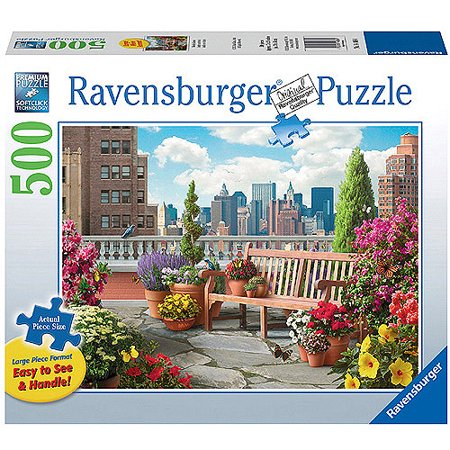 Ravensburger Rooftop Garden Large Format Puzzle, 500