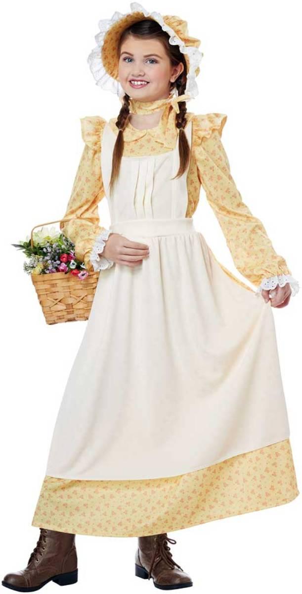Prairie Girl American Pioneer Dress 19th Century