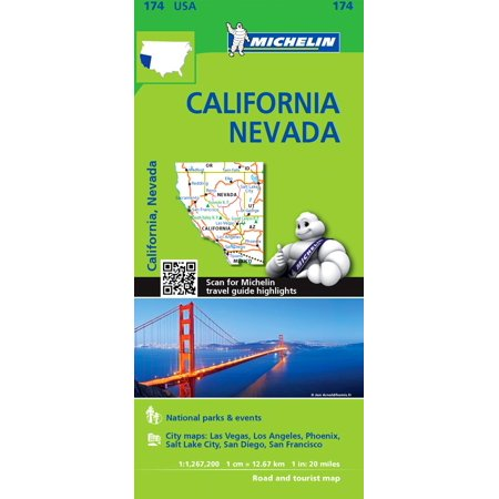 michelin usa california nevada map 174