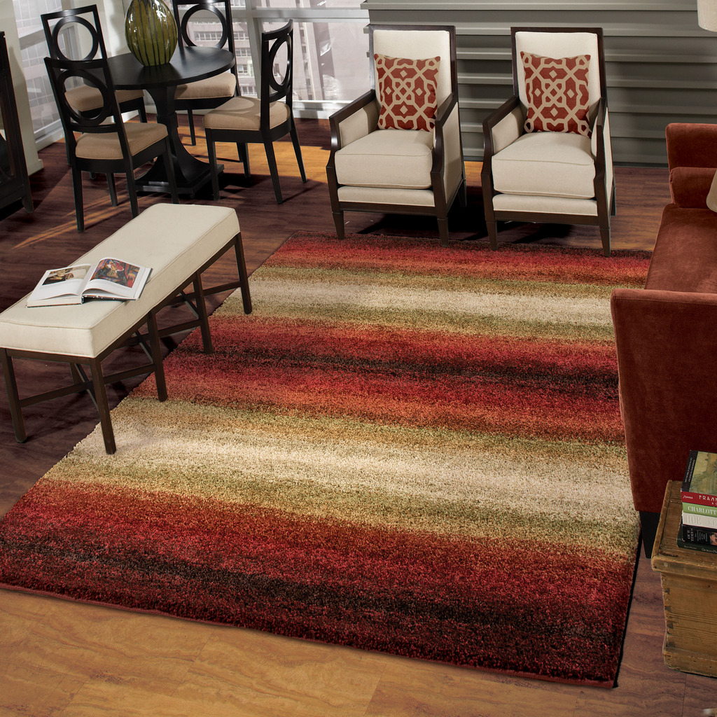 Orian Rugs Plush Stripes Connection Area Rug and Runner