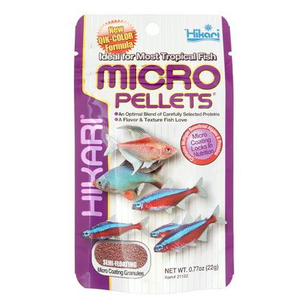 Hikari Micro Semi-Floating Pellets Freshwater Tropical Fish Food, 0.77 Oz