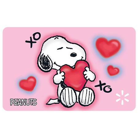 Vday Snoopy Hearts Walmart eGift Card