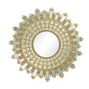 Benzara Elegant Sun Shaped Golden Wall Mirror - 32 diam. in.
