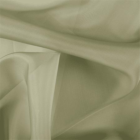 Avocado Silk Organza, Fabric By the Yard