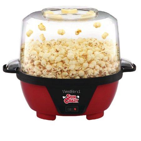 West Bend 82505 Stir Crazy Electric Hot Oil Popcorn Popper Machine with (West Bend Stir Crazy Popcorn Popper Instructions)