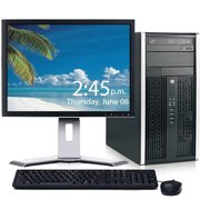 "HP Pro 6300 Desktop Computer Bundle Windows 10 Intel Core i3 Processor 8GB 250GB DVD Wifi Bluetooth with a 19"" LCD Monitor - Refurbished"