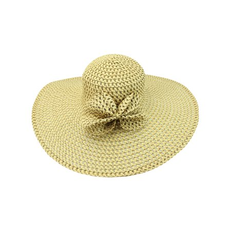 Crushable Floppy Hat (Crushable Wide Brim Floppy Hat With Bow)