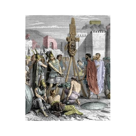 The Romans Trying to Buy their Salvation from the Gaulish Chief Brennus, 4Th Century BC Print Wall Art