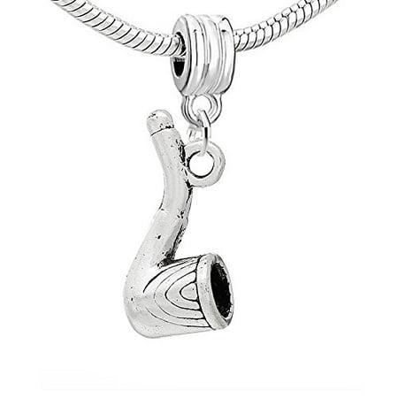 Tobacco Smoking Pipe Charm Bead ()