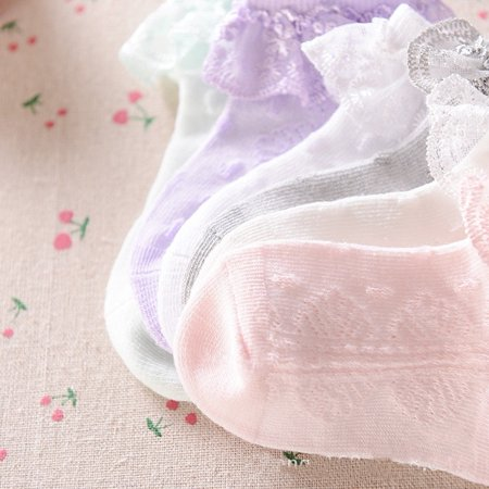 Baby Girls Tutu Socks Bow Lace Newborn Infant Frilly Sock Cotton Short Socks