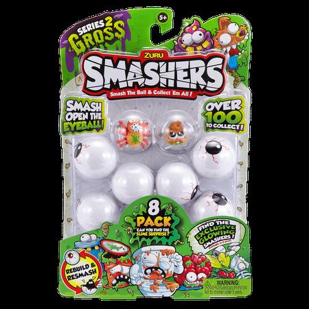 Smashers Smash Ball Collectibles Series 2 Gross by ZURU (8 Pack) - Mini Magic 8 Ball