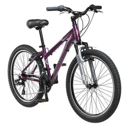 Schwinn Sidewinder Girl's Mountain Bike, 24 in wheels, Purple, steel (Best All Round Road Bike Wheels)