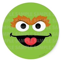 "Sesame Street Oscar Green Monster Birthday Edible Image Photo 8"" Round Cake Topper Sheet Personalized Custom Customized Birthday Party"